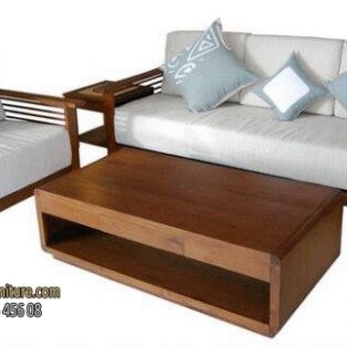 Wood Chair Living Room Set
