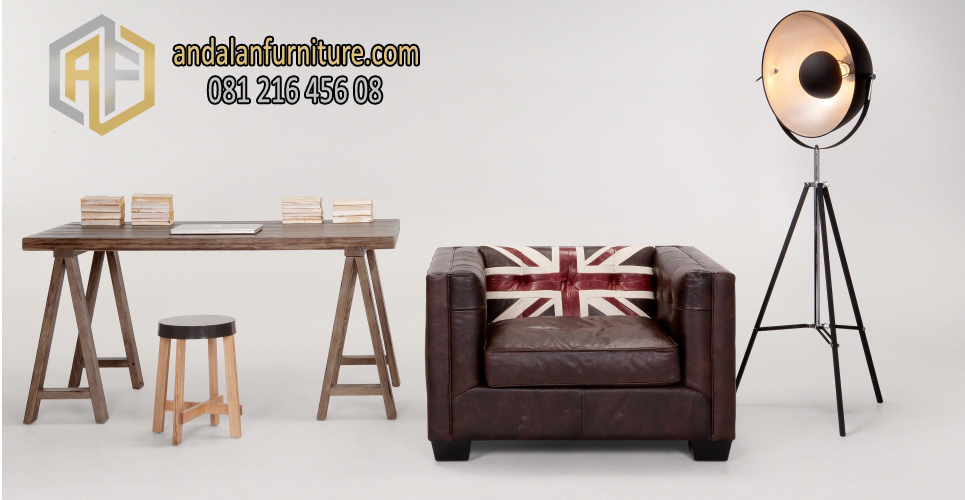 Sofa Minimalis British Vintage Furniture Jepara