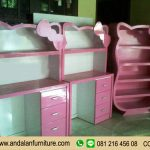 Set Meja Belajar Hello Kitty Harga Murah