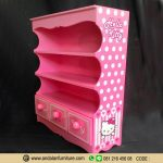Rak Buku Anak Perempuan Model Hello Kitty