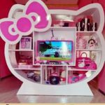 Rak Buku Lemari TV Hello Kitty Pink