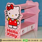 Aksesoris Model Lemari Buku Rak Minimalis Hello Kitty Warna Pink Murah